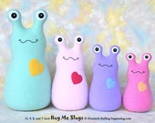 Custom Handmade Slugs, Stuffed Animal Plush Doll Art Toys, Hug Me Slugs, Personalized Tag, Your Choice of Fleece Color, 12 inch, Custom-made