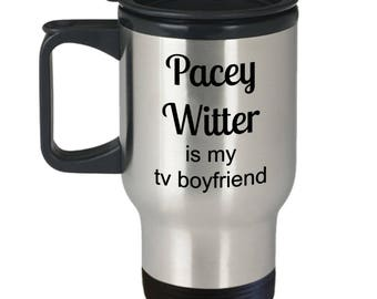 Pacey Witter is my tv boyfriend stainless steel travel mug with lid and handle /Dawson's Creek travel mug / 90s tv show gift