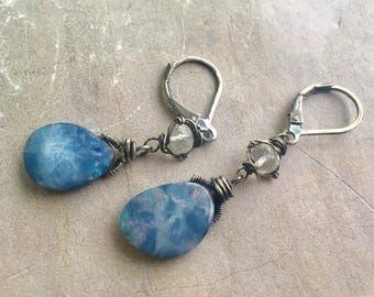 Opal & Moonstone Earrings