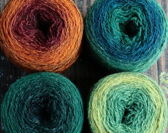Pure wool knitting yarn - 4 x 50 g