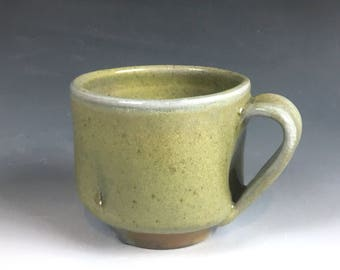 Frosty Green Soda Woodfired Mug