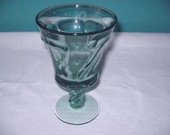 Fostoria glass Jamestown green goblet