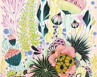 Botanical Art Print, Fine Art Print, Floral Print - New Life