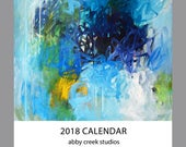 2018 Art Calendar - 5 x 7 Small Wall or Desk Calendar
