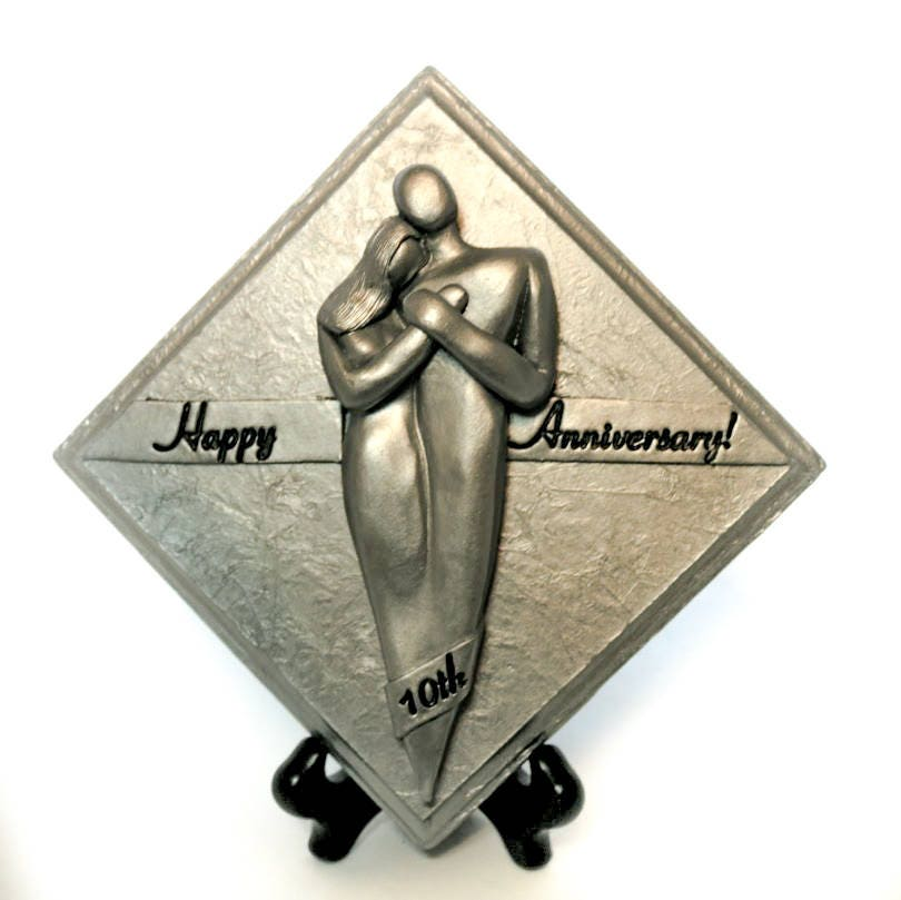 Happy 10 Year Anniversary Gift Aluminum Plaque 10th Tenth