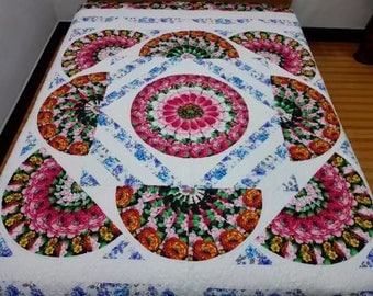 Queen  Size Machine Pieced And Quilted  Quilt/King   and twin available