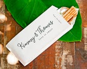 Churro Wedding Favor Bag - Love is Sweet Bride and Groom - Custom Candy or Popcorn Food Favor - 20 Popcorn Bags per Pack - Buy More and Save