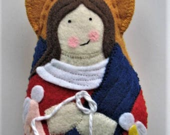 Mary Undoer of Knots Felt Saint Softie