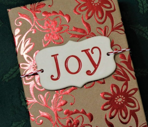 X-mas Gift Wrapping - Wrapping Decoration - Package Decoration - Christmas Gift Decoration - Joy - Handcrafted - Keepsake Ornament