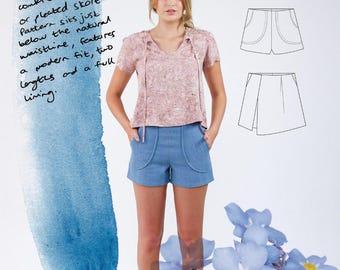 Megan Nielsen PATTERN - Harper Shorts + Skort - Sizes XS to XL
