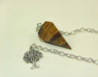 Tiger's Eye Pendulum-218