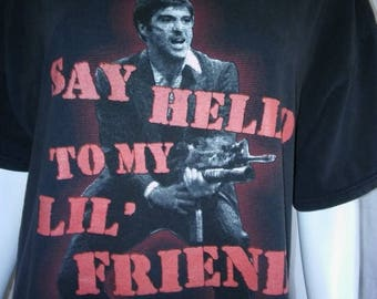 Closing Shop 40%off SALE SCARFACE movie 90s grunge faded t shirt