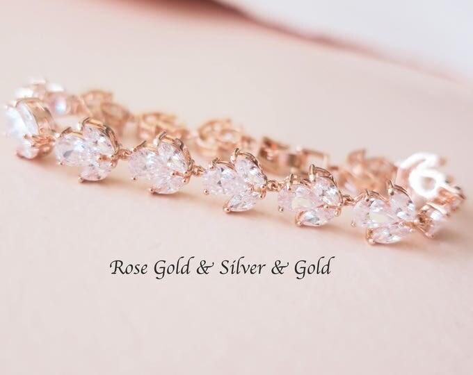 Cubic Zirconia Bridal Bracelets
