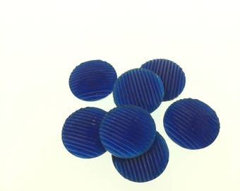 Whole Sale Clearance 30 mm Round Glitter Striped Flatback 10 Pieces