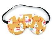 Llama Sleep Eye Mask, Travel Gift Idea Sleeping Mask, Eye Pillow Sleeping Mask
