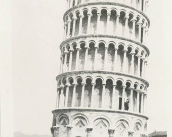 vintage photo 1914 Leaning Tower Of Pisa Italy Horse Carriage awaits