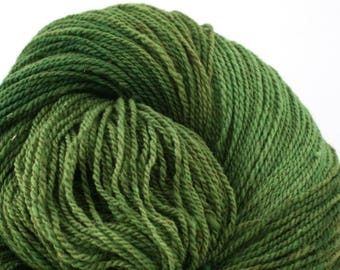 Mohonk Light Hand Dyed fingering weight NYS Wool 550yds 4oz Arugula
