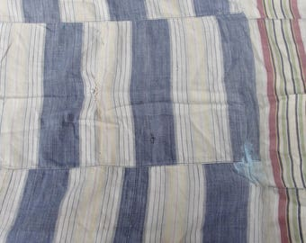 Soul Cloth, Boro Cloth, Patched restored fabric Faded colors with a history
