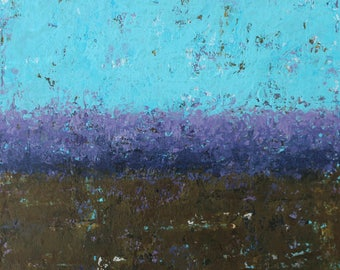 """Original Abstract Landscape Painting -- Driving By VII  -- 8 x 8"""""""