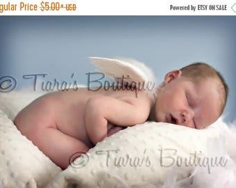 SUMMER SALE 20% OFF Newborn Photo Prop, Imperfect Infant Feather Angel Wings Baby Shower Gift Keepsake