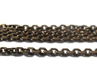 Summer SALEabration - 10 Feet of Thin Brass Chain, Antique Brass Cable Chain, Ten Feet, Diamond Cut Chain, 2mm Vintage Chain for Making Jewe
