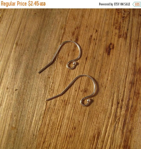 Summer SALEabration - One Pair of Silver Earwires with 1.5mm Ball, Fancy .925 Sterling Silver Earring Findings, One Pair, Jewelry Supplies,