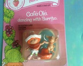 Vintage Strawberry Shortcake Cafe Ole dancing with Burrito Strawberryland Miniatures