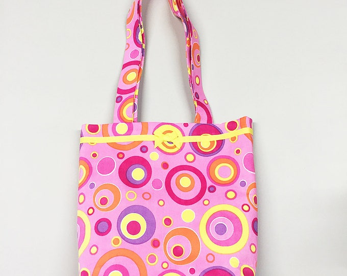 Tote Bag - Pink Mod Circles