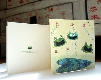 Card C186 frogs