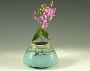 Vase with flower pin frog