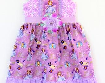 Sofia Princess in Training dress,  girls dress, boutique dress, toddler dress