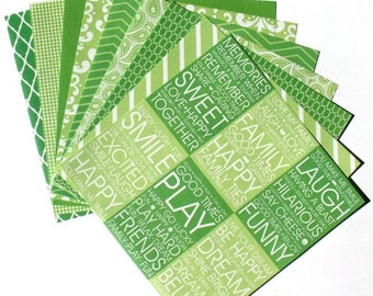 Lime Green - 6x6 Recollections Home Basics Paper Pack