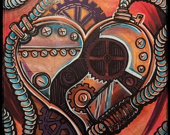 Steampunk heart fine art print