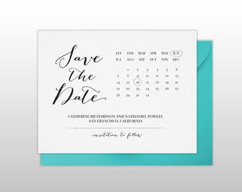 Save the Date Calendar - DIY Printable