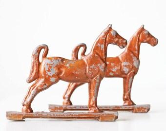 Vintage Horse Gate Toppers, set of 2