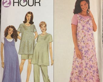 Misses's Maternity Dress, Top, Jumper and Pants or Shorts Sewing Pattern Simplicity 8589 Bust 34-38 inches Uncut  Complete