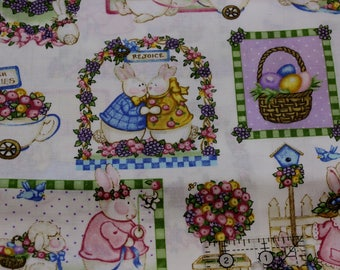 "Daisy Kingdom Easter Parade Patch by Sandi Gore-Evans 100% cotton 42""-44"" wide"