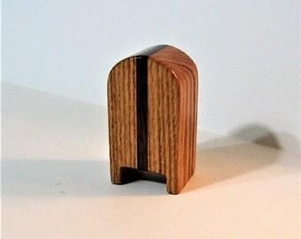 Stamp Dispenser  Made Of Oak And Walnut Hardwood