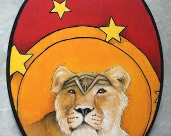 Lioness Wonder Woman - Medium Cosplay Painting