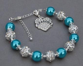 Grandma Charm Bracelet, Grandma Jewelry, Grandma Gift, Grandma Gift Ideas, Grandmother Bracelet, New Grandma Gift, Grandma Present