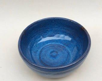 BLUE stoneware ceramic pottery bowl  handmade serving bowl, mixing bowl, ceramic, pottery, gift, handmade, ready to ship  B50