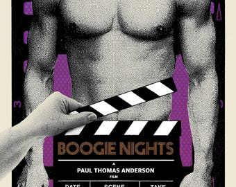 """Limited Edition """"Boogie Nights"""" Screen Printed poster by Brian Methe Crazy4Cult Gallery1988"""