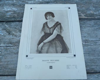 Vintage Antique 1920 French risque  Actress /demi mondaines  /recto/verso photographie /flapper Plus belle femme de France