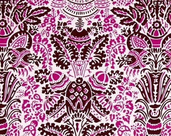 YARD - Jennifer Paganelli Fabric, Color Brigade, Stephanie, Maroon, Pink, Brown, cotton quilting fabric