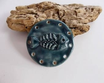 Handmade Ceramic Fish Bone Pine Needle Basket Base