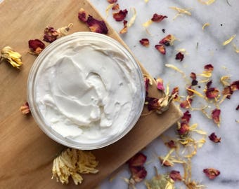 Organic Hair Cream Hydrates Choose Scent Organic Shea Butter Horsetail Saw Palmetto