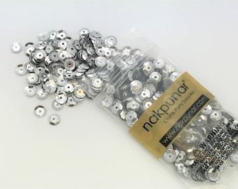 3D Silver Round Sequin For Clothing, Accessory, DIY, Craft Scrap-booking, Wedding, Art Decoration, Jewelry Making