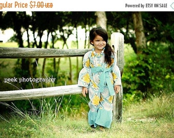 SALE How to make a peasant romper girls newborn through size 8 Instant PDF sewing pattern