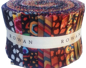"Kaffe Fassett Collective CLASSICS NEUTRAL Design Roll 2.5"" Fabric Strips Jelly Roll Westminster Fibers"