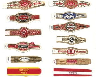 250 CIGAR BAND Labels -new old stock cigar bands